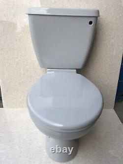 Whisper Grey Toilet Pan And Cistern